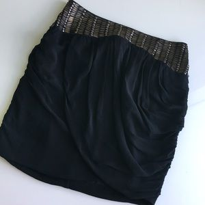 Bebe black beaded skirt size 0-2 S